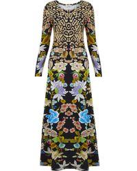 Temperley London - Lilla Leopard Structured Dress - Black Mix - Lyst
