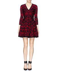 Alexander McQueen Mosaic Tulip Jacquard Knit Dress - Lyst
