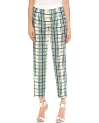 Emma Cook - Rupert Trousers - Lemon Check - Lyst