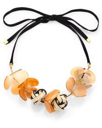 Marni Horn Multi-Flower Necklace - Lyst