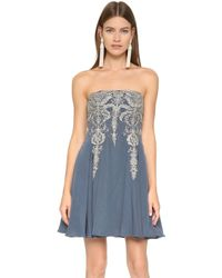 Notte by Marchesa | Strapless Dress - Slate | Lyst