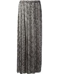 MICHAEL Michael Kors Snake Skin Print Maxi Skirt - Lyst