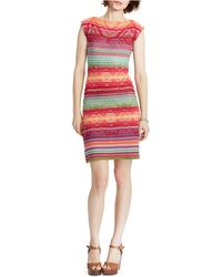 Lauren by Ralph Lauren Linen-Cotton Sweater Dress - Lyst