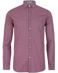 Ted Baker Nayfoot Tile Printed Shirt - Lyst