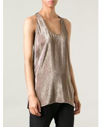 Gucci Metallic Vest Top - Lyst