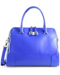 Furla Pebbled Leather Dome Bag - Lyst