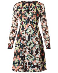 Erdem Tamia Peabodyprint Silk Dress - Lyst