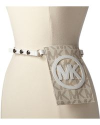 Michael by Michael Kors 13mm Veg Belt Bag with Mk Logo - Lyst