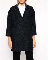 Helene Berman Two Button Swing Coat - Lyst
