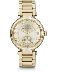 Michael Kors Mid-Size Golden Skylar Two-Hand Glitz Watch - Lyst