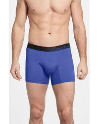 Calvin Klein Bold Micro Boxer Brief blue - Lyst