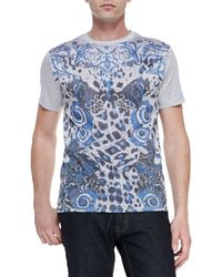 Versace Shortsleeve Graphicprint Tshirt - Lyst