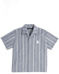 Xander Zhou - Stripe Short Sleeve Shirt - Lyst