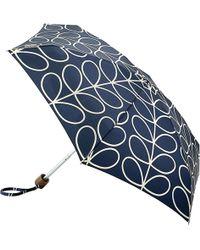 Orla Kiely - Tiny Linear Leaf Print Folding Umbrella - Lyst