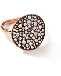 Ippolita 18K Rose Gold Stardust Flower Ring With Diamonds - Lyst