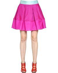 Antonio Berardi Silk Satin & Organza Skirt - Lyst