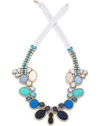 Doloris Petunia Color Fade Seurat Necklace Denim - Lyst