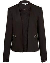 Elizabeth And James Black Brighton Chiffon Layer Crepe Jacket - Lyst