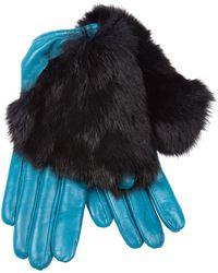 Imoni | Fur Timmed Gloves | Lyst