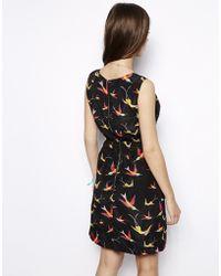 Max C - Max C Wrap Front Dress In Bird Print - Lyst