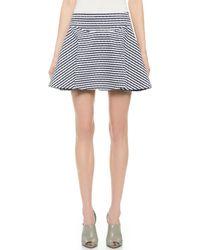 Jay Ahr Studded Striped Miniskirt - Navy/White - Lyst