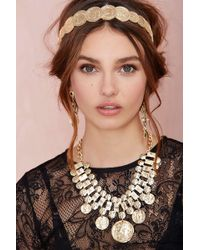 Nasty Gal Money Talks Coin Necklace - Lyst