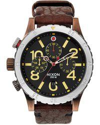 Nixon 48-20 Chronograph Watch brown - Lyst