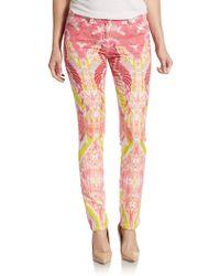 Roberto Cavalli Printed Skinny Jeans - Lyst
