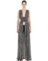 Larusmiani Snake Printed Silk Georgette Dress