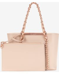 Ted Baker Small Metal Chain Shopper Bag - Lyst
