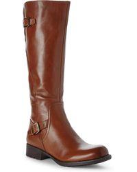 Franco Sarto Tan Perk Wide Calf Riding Boots - Lyst