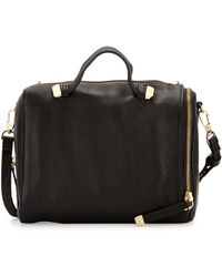 Halston Heritage Leather Baby Satchel W Handle - Lyst