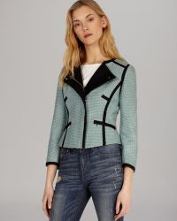 Karen Millen Jacket Texture Tweed Collection - Lyst