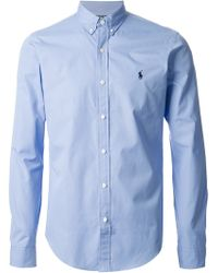 Polo Ralph Lauren Blue Shirt - Lyst