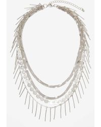 Nasty Gal Shayla Layered Necklace gray - Lyst