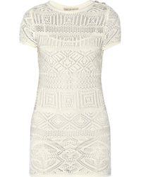 Emilio Pucci Crocheted Cotton Dress - Lyst