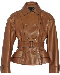 Burberry Prorsum Leather Jacket - Lyst