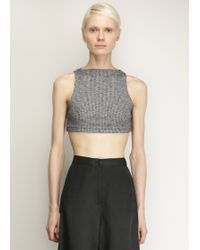 David Michael - Heather Grey Helix Crop Top - Lyst