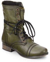 Steve Madden Troopa Leather Combat Boots - Lyst