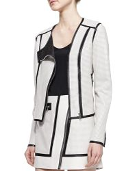 Andrew Marc Perforated Leather Jacket - Lyst