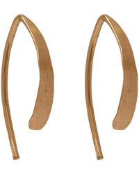 Melissa Joy Manning   Small Gold Wishbone Hoop Earrings   Lyst
