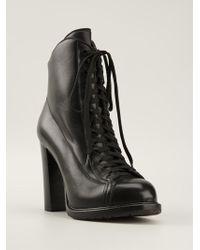 Santoni Chunky Heel Ankle Boots - Lyst