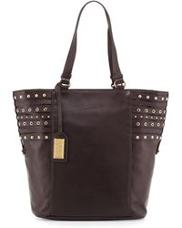 Badgley Mischka Adele Large Leather Tote Bag - Lyst