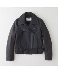 Acne Mape Scuba Leather Jacket - Lyst