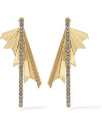 Giles & Brother - Gold-plated Crystal Earrings - Lyst