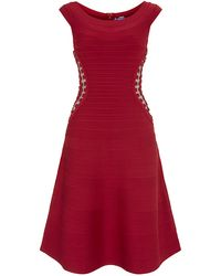 Hervé Léger Alyse Bandage Dress - Lyst