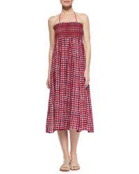 Tory Burch Sonda Fold-Over Skirt/Dress - Lyst