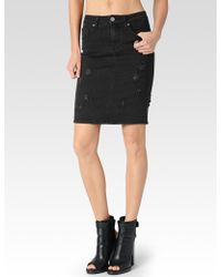 Paige Deirdre Skirt Ramone Destructed - Lyst