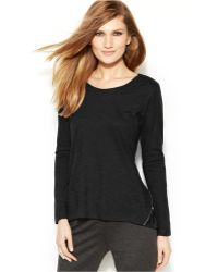 Vince Camuto Two by Long-sleeve Zip-back Tee - Lyst