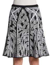 Diane von Furstenberg Samara Panther Lace Knit Skirt - Lyst